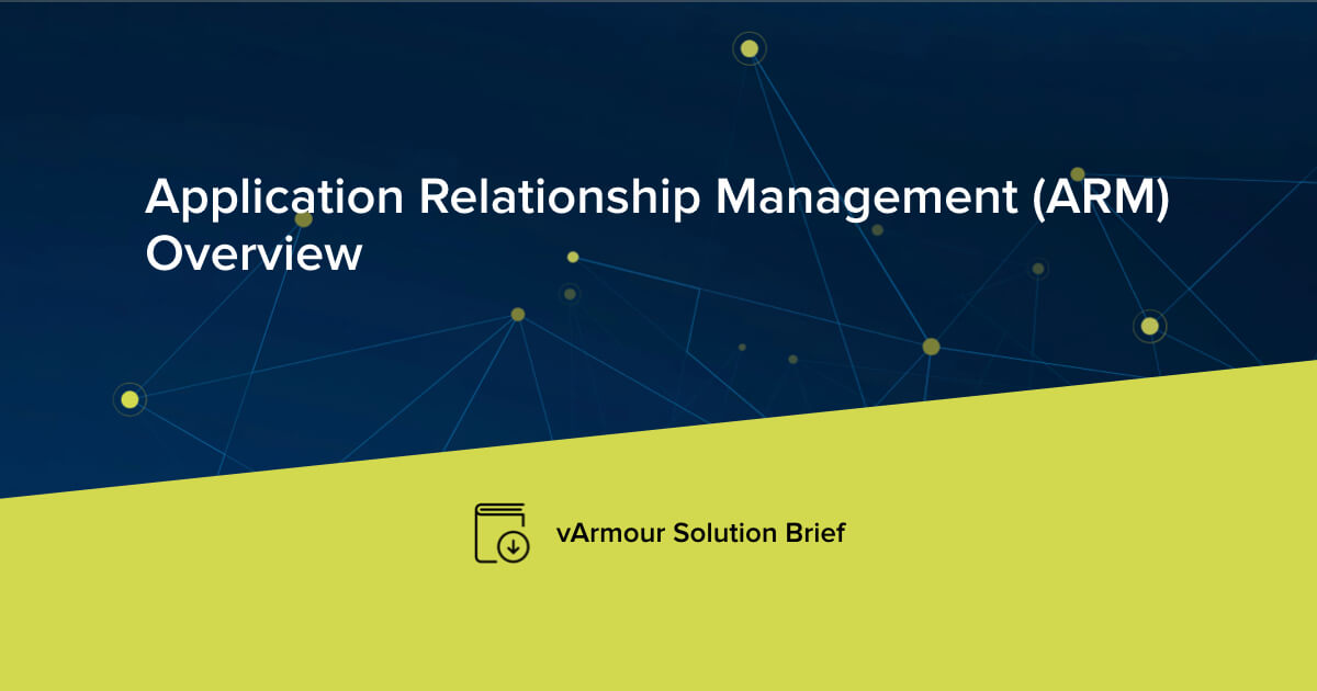 Application Relationship Management (ARM): An Overview